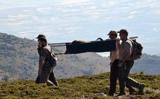 Rescatan en la Sierra de Baza un macho de cabra montés que se había quedado ciego