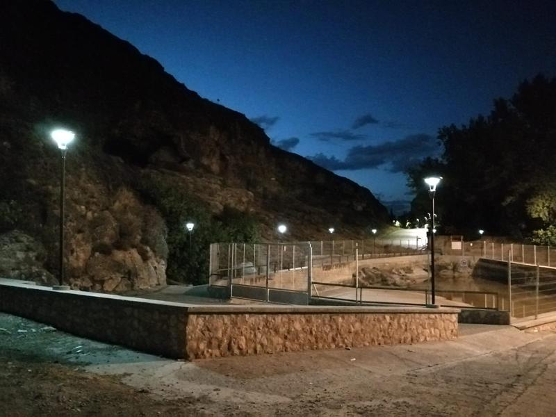 Nueva iluminación en el Olivar de las Madres y la Fuente de San Juan