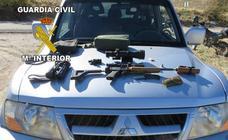 Cazan 'in situ' en Cazorla a un presunto cazador furtivo con todo el equipo