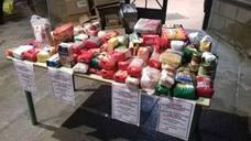 Éxito de la sexta recogida solidaria del PSOE de Huesa que donará más de 500 kilos de alimentos y numerosos juguetes