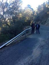 Diputación acondicionará la carretera entre las poblaciones de El Palomar y las Juntas de Muriel, en La Iruela
