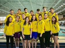 Cuatro medallas para los nadadores del Churriana en el Campeonato de Andalucía Infantil