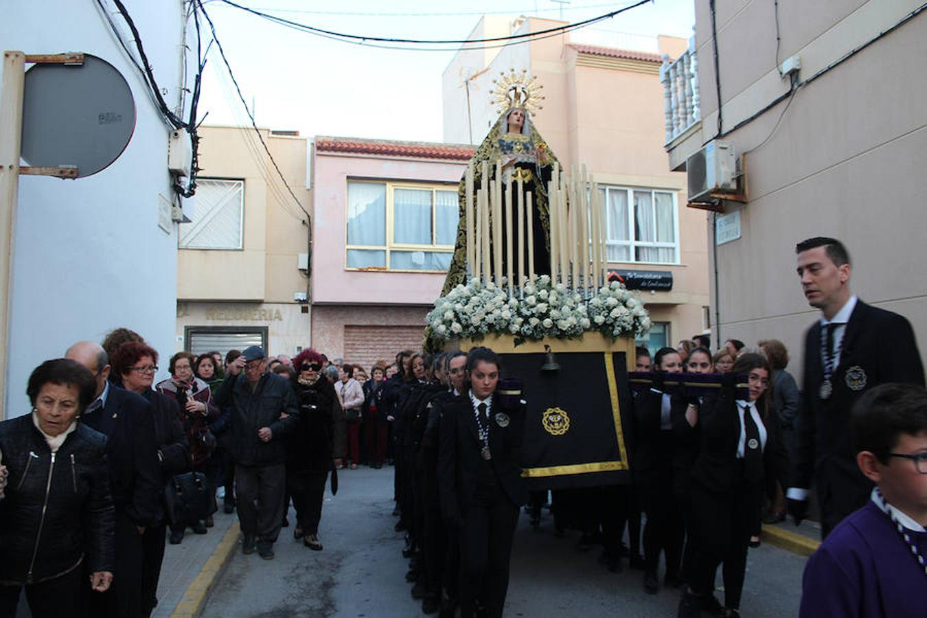 Procesión de Nuestro Padre Jesús Nazareno y Nuestra Señora de los Dolores en Balerma el Jueves Santo