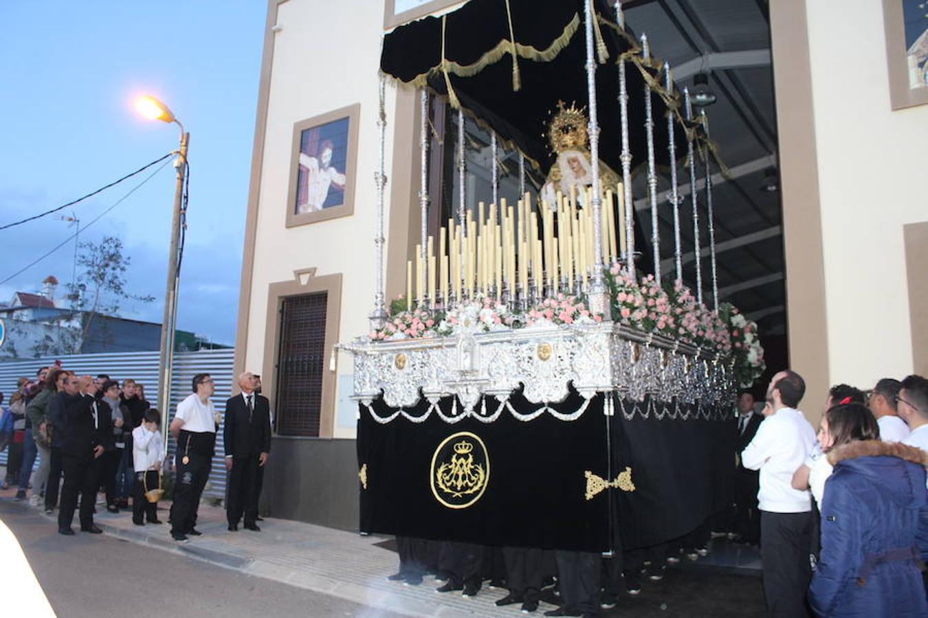 Procesión del Santísimo Cristo de la Paz y Nuestra Señora de los Dolores en Santa María del Águila