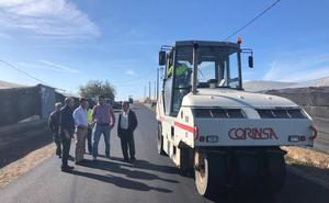 Las obras de mejora en la carretera del Iryda estarán finalizadas esta semana