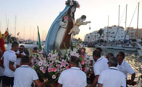 Balerma y Almerimar celebran la Procesión de su Virgen del Carmen