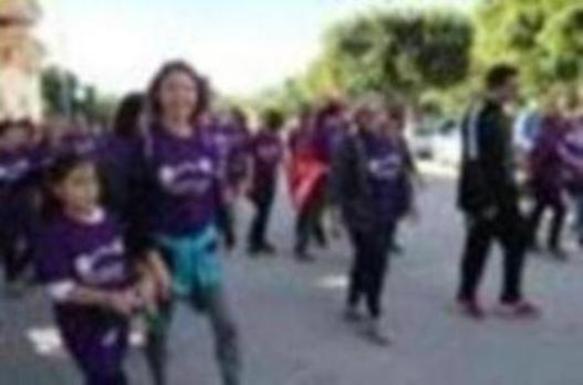 Más de 300 personas participan en la VII Marcha Urbana contra la Violencia de Género
