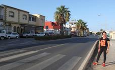 El PSOE pide el rebaje del firme en varios puntos de la carretera de La Mojonera