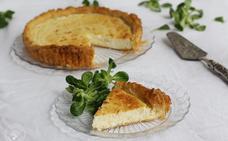 Tarta de requesón y cebolla