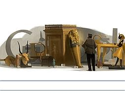 Howard Carter y su tumba de Tutankamon reviven en Google