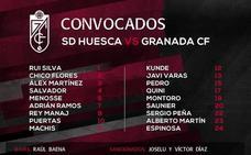 Rey Manaj y Menosse, novedades en la lista para Huesca