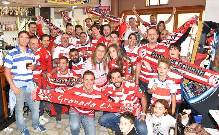 La afición del Granada CF, en Alcorcón