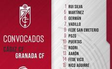 Antonio Puertas por Pablo Vázquez, novedad en la lista