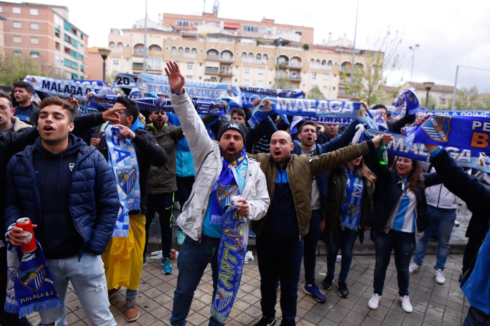 Las aficiones del Granada CF y el Málaga CF se hermanan antes del partido