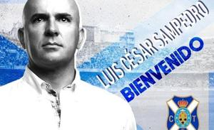 Luis César Sampedro, nuevo técnico del Tenerife