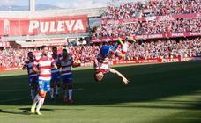 El partido entre el Granada y el Cádiz, en imágenes