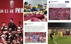 El ascenso del Granada CF en redes: mensajes, vídeos y fotos de jugadores, políticos y afición