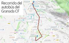 Horario, cortes de tráfico y recorrido del autobús del ascenso del Granada CF