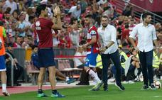 Diego Martínez quiso dar las gracias a la afición, los jugadores y al Alcorcón