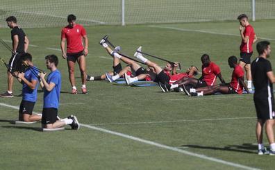 Suave sesión de recuperación tras el duelo ante el Jaén