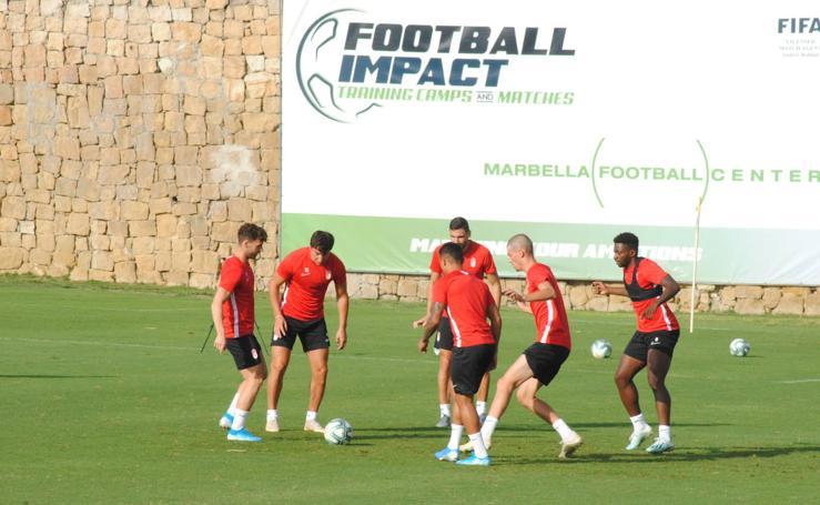 Así ha sido el último entrenamiento del Granada en Marbella