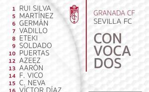 Diego Martínez repite convocatoria para medirse al Sevilla
