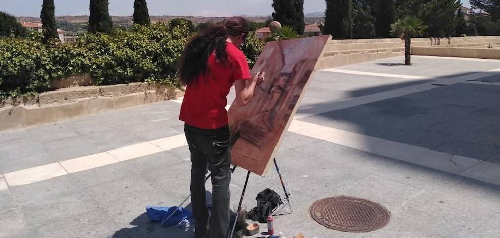 Una treintena de artistas participa la XIV edición del Certamen de Pintura Rápida y Graffiti