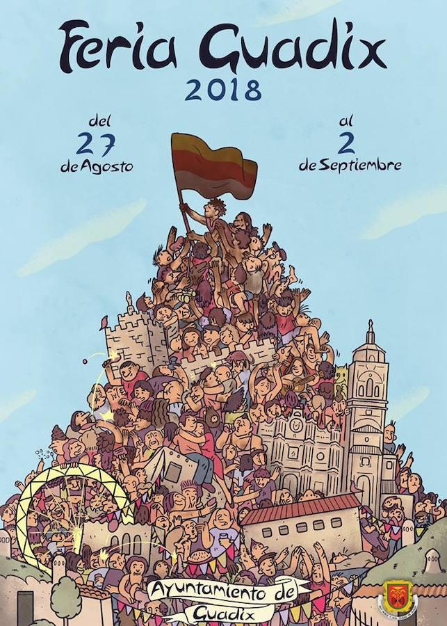 El cartel elaborado por Álvaro Wallner Carrio, elegido como cartel anunciador de la Feria de Guadix 2018