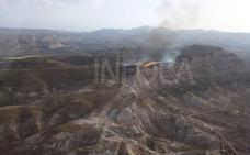 Controlado incendio en Dehesas de Guadix tras calcinar 10 hectáreas