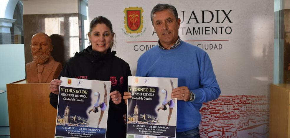 350 atletas de toda Andalucía participan este domingo en el V Torneo Ciudad de Guadix de Gimnasia Rítmica