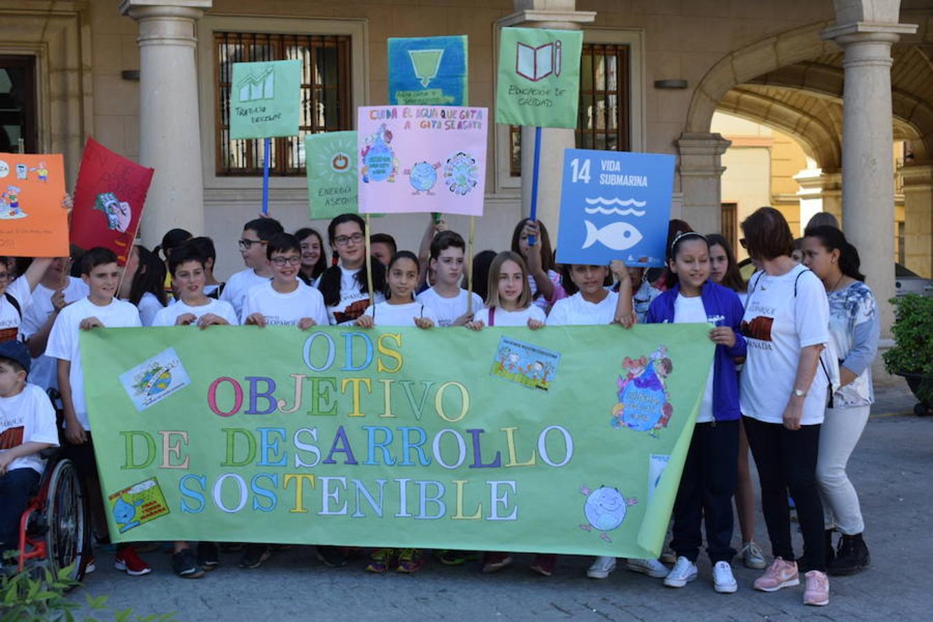 Escolares de la comarca del programa 'Objetivo sostenibilidad!'