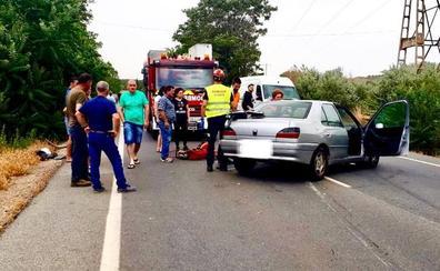 Dos heridos en un accidente en la carretera de Alcudía