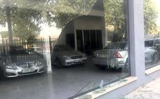 Destrozan un concesionario y huyen tras intentar robar coches de alta gama en Guadix