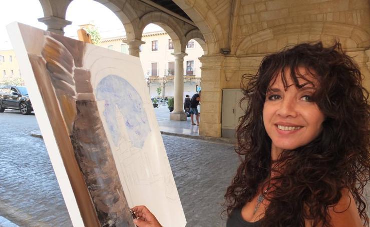 Guadix posa en una nueva edición del Certamen de Pintura Rápida
