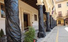 Los plásticos para fachadas el día del Cascamorras se pueden retirar a partir del 3 de septiembre