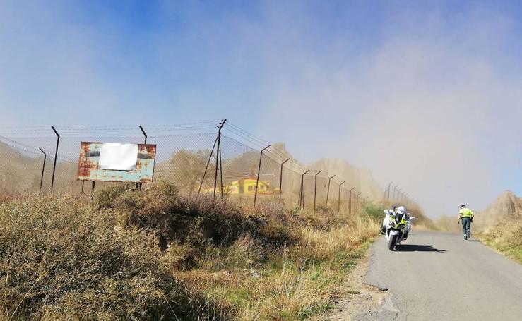 Los momentos posteriores a la explosión de la fábrica de pirotecnia de Guadix