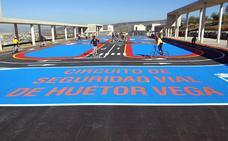 Un circuito de 1.600 metros cuadrados consolida la educación vial en Huétor Vega