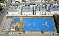 La nueva plaza de las Naciones de Huétor Vega será el epicentro recreativo del barrio de Los Rebites