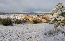La nieve llega a Huétor Vega de la mano de Filomena