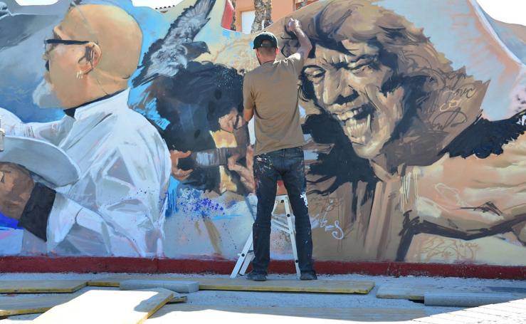 El Niño de las Pinturas rinde homenaje a David Zaafra en Huétor Vega