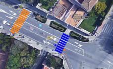 El semáforo del cruce de Doña Juana incorpora un nuevo paso de peatones para mejorar la seguridad