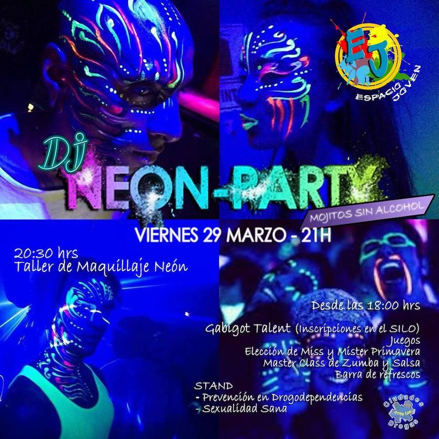 Las Gabias dará la bienvenida a la primavera con una 'neon party' para los jóvenes
