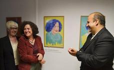 Pilar Aranda clausura en La Zubia la exposición 'Una puerta violeta'