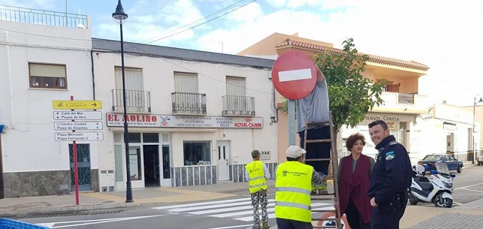 Reordenación del tráfico en el centro de Vera