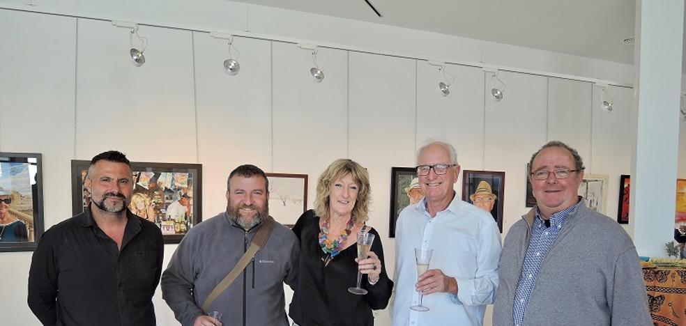 El Centro de Arte 'La Fuente' acoge una muestra de pintura con cerca de medio centenar de obras