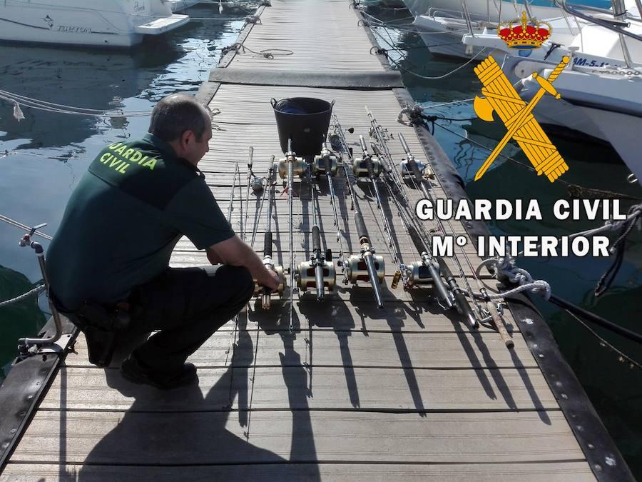 Intervienen 270 kilos atún rojo pescado ilegalmente y artes de pesca en Carboneras