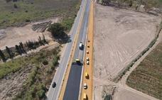 Desvían el tráfico en la Vera-Garrucha hacia la nueva calzada para continuar con las obras