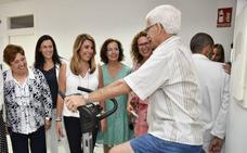 Susana Díaz visita la ampliación del centro de salud de Garrucha