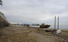 Comienzan a restaurar la playa de Garrucha