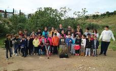Unos 400 escolares de Turre participan en una jornada de reforestación